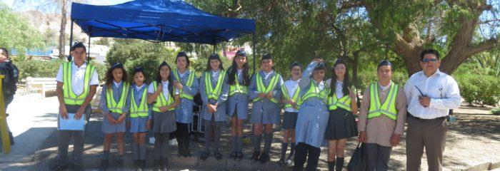 Alumnos y alumnas de la Brigada de seguridad de la Escuela Nº 1, se destacaron en Feria organizada por gobernación.