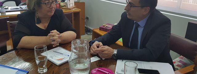 Visita Director Ejecutivo Autoridades Educacionales