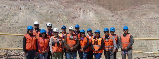 """En el marco del Proyecto """"Rajo Inca Educativo"""" la FEES visita La Mina Subterránea y Rajo QM"""